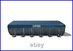 Intex 26368 24Ft Above Ground swimming pool +saltwater Pump + Accessories