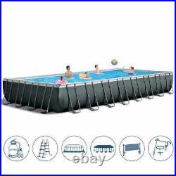 Intex 26374 32FT Rectangular XTR Frame Above Ground Swimming Pool 975X488X133cm