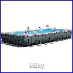 Intex 26378 ex 26376 XL Ultra Frame Above Ground Pool Rectangular with Volley Ne