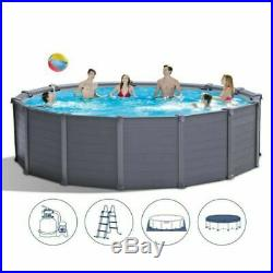 Intex 26384 Graphite above Ground Swimming Pool Rounded cm 478 x 124