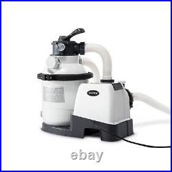 Intex 26643EG 1200 GPH 10 inch Above Ground Pool Sand Filter Pump with Auto Timer