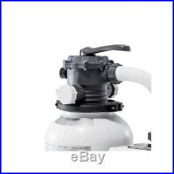 Intex 26645EG 2100 GPH Above Ground Pool Sand Filter Pump with Automatic Timer