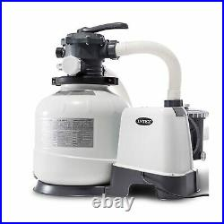 Intex 26647EG 2800 GPH Above Ground Pool Sand Filter Pump with Automatic Timer