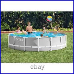 Intex 26720 Above Ground Pool 14ft Grey 427 x 107 Prism Frame Round Filter Pump