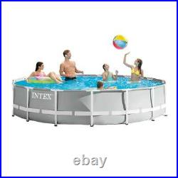 Intex 26723EH 15ft x 42in Prism Frame Above Ground Swimming Pool Set with Filter