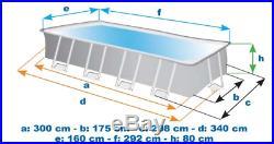 Intex 26784 Prism Frame Above Ground Pool Rectangular 300x175x80