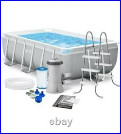 Intex 26784 Prism Frame Above Ground Swimming Pool Rectangular 300x175x80