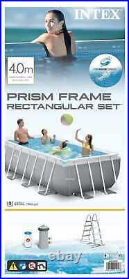 Intex 26788 Former 26776 Prism Frame Above Ground Pool Rectangular 4x2x1m