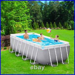 Intex 26790 Prism Frame Premium rectangular above ground pool 400x200x122cm