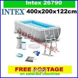 Intex 26790 Prism Frame rectangular above ground pool 400x200x122cm