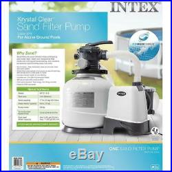 Intex 2800 GPH Above Ground Pool Sand Filter Pump with Deluxe Pool Maintenance Kit