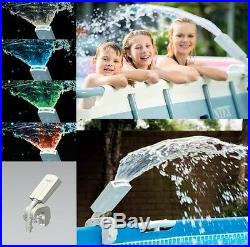 Intex 28089 Multi-Color LED Above Ground Swimming Pool Water Sprayer Accessory