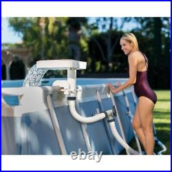 Intex 28090E Above Ground Swimming Pool 3 Colored LED Relaxing Waterfall Cascade