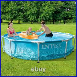 Intex 28206EH 10' x 30 Above Ground Steel Metal Frame Beachside Swimming Pool