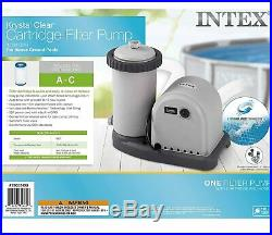 Intex 28635EG 1500 GPH Krystal Clear Filter Pump Above Ground Pools SHIPS FAST
