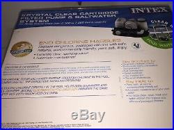 Intex 28673EG Krystal Clear Cartridge Filter Pump & Saltwater System