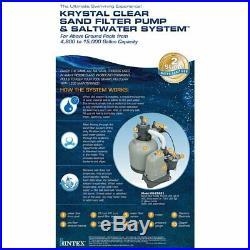 Intex 28681EG 120V 16-Inch Krystal Clear Sand Filter Pump & Saltwater System (P)