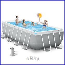 Intex 4.88m x 2.44m x 1.07m Rectangular Frame Above Ground Swimming Pool #26792