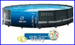 Intex 488x122 Above Ground Swimming Pool with pump