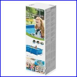 Intex 8.5ft x 5.3ft x 26In Rectangular Frame Above Ground Swimming Pool