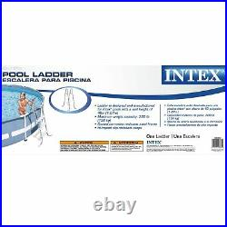 Intex Above-Ground Pool Ladder for 42-Inch Wall Height Pool with Intex Pool Cover