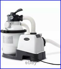 Intex Above Ground Pool Sand Filter Pump 1200 GPH Krystal Clear 26643EG