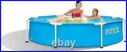 Intex Above Ground Swimming Pool Metal 8ft Frame Pools Garden Patio W244xH51cm