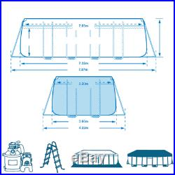 Intex Above ground swimming pool 732x366xh132 cm+pump sand ladder
