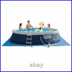 Intex Easy Set 15ft x 42in Inflatable Outdoor Above Ground Swimming Pool with Pump