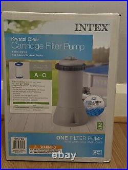 Intex Krystal Clear Cartridge Filter Pump 110-120V with GFCI, 1000 GPH Pump