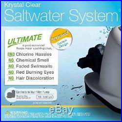 Intex Krystal Clear Saltwater System, For Pools Up To 7,000 Gallons W