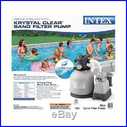 Intex Krystal Clear Sand Filter Pump for Above Ground Pools, 16-inch, 110-120