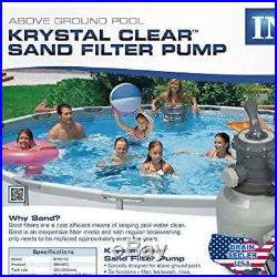 Intex Krystal Clear Sand Filter Pump for Above Ground Pools, 2100 GPH Pump Flow