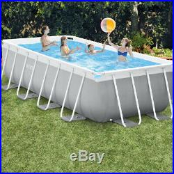 Intex Pool rectangular above-ground 488x244xh107cm + pump ladder sheeting 26792