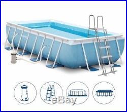 Intex Prism Frame Rectangular Above Ground Swimming Pool (488x244x107cm)
