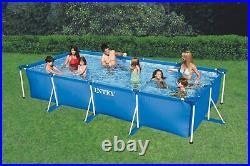 Intex Rectangular Frame Outdoor Above Ground Swimming Pool (No Pump)