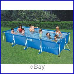 Intex Rectangular Swimming Pool Set Steel Metal Frame Above Ground Large Tube