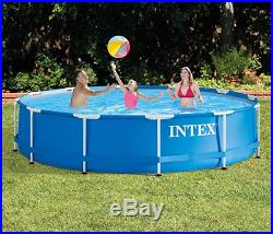 Intex Swimming Pool Above Ground Metal Frame Set Filter Pump As A Gift 12 x 30