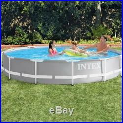 Intex Swimming Pool Above-Ground Rounded Structure Steel 366x76cm + Pump Filter