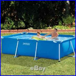 Intex Swimming Pool Rectangular Metal Frame Outdoor Above Ground Water Centre