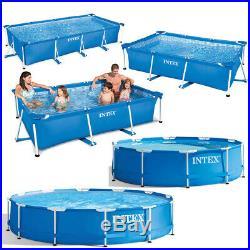 Intex Swimming Pool Rectangular/Round Steel Frame Family Above-Ground Pools