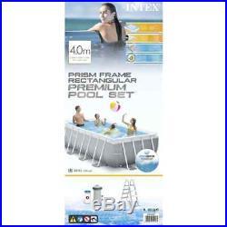 Intex Swimming Pool Set Prism Frame Rectangular 400x200x100cm Above Ground