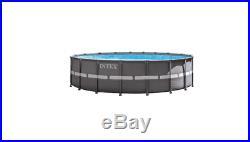 Intex Ultra XTR 18ft Dia. Round 52 Deep Frame Above Ground Swimming Pool