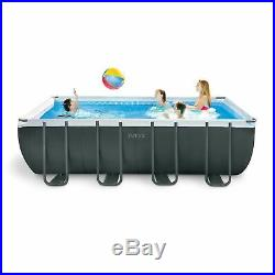 Intex Unisex Ultra Extra Rectangular Pool Set Above Ground Pools Classic