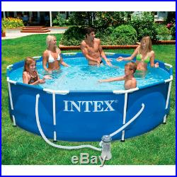 Intex above Ground Swimming Pool with Structure Steel 305x76cm + Pump 28202