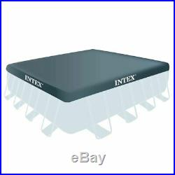 Intex above ground swimming pool 488x488x122cm+pump filter ladder sheeting 28766