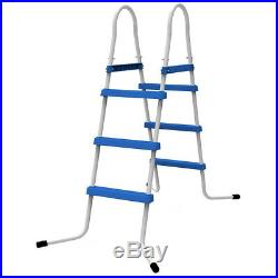 JILONG SWIMMING POOL 3 STEP LADDER FOR ABOVE GROUND POOL WALL HEIGHT UP TO 90 cm