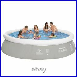 Jilong Swimming Pool Round Grey 450x122cm PVC Inflatable Above Ground Garden