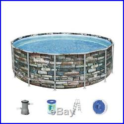 Large 14ft Bestway Above Ground Steel Framed Swimming Pool 427 x 122 cm & Cover
