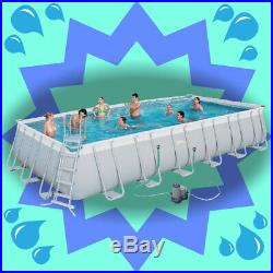 Large Above Ground Swimming Pool Home Garden Patio Paddling Pools Steel Family